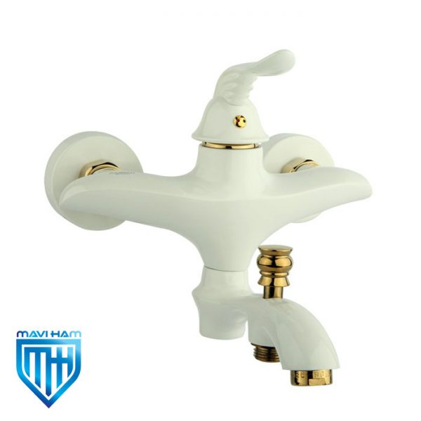 شیر حمام یا دوش راسان مدل پریمو سفید