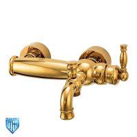 شیر حمام قهرمان مدل انتیک طلایی براق