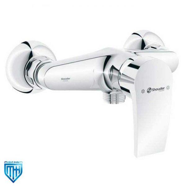 شیر آفتابه یا توالت اطلس 2 پلاس کروم شودر